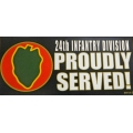 24TH INFANTRY DIVISION BUMPER STICKER