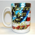 MARINE MOM AND PROUD MUG