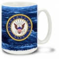 NAVY CREST AT SEA MUG