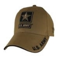 CAP-ARMY STAR LOGO (COYOTE BRN)
