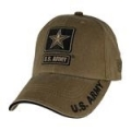CAP-ARMY STAR LOGO (COYOTE BRN) (WASHED)
