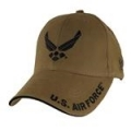 CAP-AIR FORCE WINGS LOGO (COYOTE BRN)