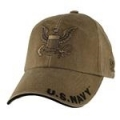 CAP-NAVY LOGO (COYOTE BRN) (WASHED)