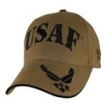 CAP-USAF W/ WINGS ON BILL LOGO (COYOTE BRN)