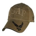 CAP-USAF W/ WINGS ON BILL LOGO (COYOTE BRN) (WASHED)