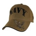 CAP-NAVY W/ LOGO ON BILL LOGO (COYOTE BRN)