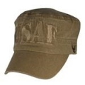 CAP-USAF (BLOCK LTTRS FLAT TOP)(WASHED) (COYOTE BRN)