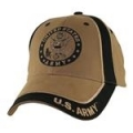 CAP-ARMY W/SEAL LOGO (TWO TONE) (COYOTE BRN)
