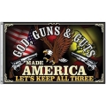 "GOD , GUNS , & GUTS 3X5"" FLAG"
