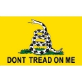 FLAG-DONT TREAD, GAD, YEL (3ftx5ft) .
