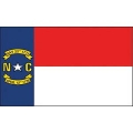 FLAG-NORTH CAROLINA (3ftx5ft) .