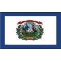 FLAG-WEST VIRGINIA (3ftx5ft) .