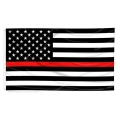 FIRE - THIN RED LINE FLAG 3X5""