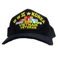 WWII Korea Vietnam Veteran Hat - American Made