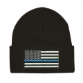BLUE LINE CUFFED KNIT BEANIE