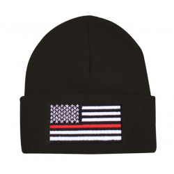 RED LINE CUFFED KNIT BEANIE