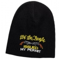 WE THE PEOPLE - ISSUED MY PERMIT 2ND AMENDMENT KNIT BEANIE