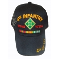 4TH INFANTRY VIETNAM VETERAN HAT WITH RIBBONS