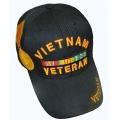 VIETNAM VETERAN HAT WITH MEDAL EMBROIDERY