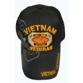 VIETNAM VETERAN HAT WITH EAGLE EMBROIDERY ACCENTS
