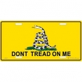 LICENSE PLATE - DON'T TREAD ON ME
