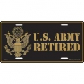 LICENSE PLATE - ARMY RETIRED