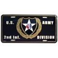 LICENSE PLATE - ARMY 2ND INFANTRY DIV.
