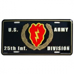 LICENSE PLATE - ARMY 3RD INFANTRY DIV.