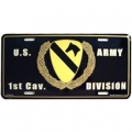 LICENSE PLATE - ARMY , 1ST CAV DIV