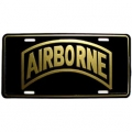 LICENSE PLATE - ARMY AIRBORNE TAB