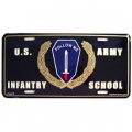 LICENSE PLATE - ARMY , INFANTRY SCHOOL