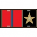 LICENSE PLATE - MEDAL BRONZE STAR