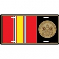LICENSE PLATE - MEDAL NATIONAL DEFENSE
