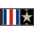 LICENSE PLATE - MEDAL  SILVER STAR