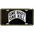 LICENSE PLATE - ONE SHOT ONE KILL