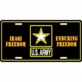 LICENSE PLATE - ARMY  IRAQI & ENDURING FREEDOM