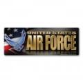 Air Force Chrome Bumper Strip Magnet