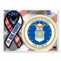 Air Force Combo Mini Ribbon/Circle Magnet