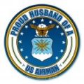 Proud Husband of a U.S. Airman Circle Magnet