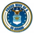 Proud Wife of a U.S. Airman Circle Magnet