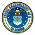 Proud Grandparent of a U.S. Airman Circle Magnet