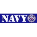 Navy Bumper Strip Magnet ( shipping may be delayed )