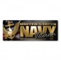 Navy Veteran Bumper Strip Magnet