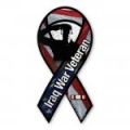 Iraq War Veteran Salute Large Ribbon Magnet