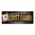 Coast Guard Chrome Bumper Strip Magnet