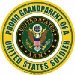 Proud Grandparent of a U.S. Soldier Circle Magnet
