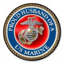 Proud Husband of a U.S. Marine Circle Magnet