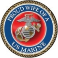 Proud Wife of a U.S. Marine Circle Magnet