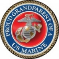 Proud Grandparent of a U.S. Marine Circle Magnet