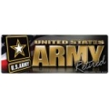 Army Retired Bumper Strip Magnet